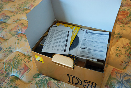 Nikon D3 box open