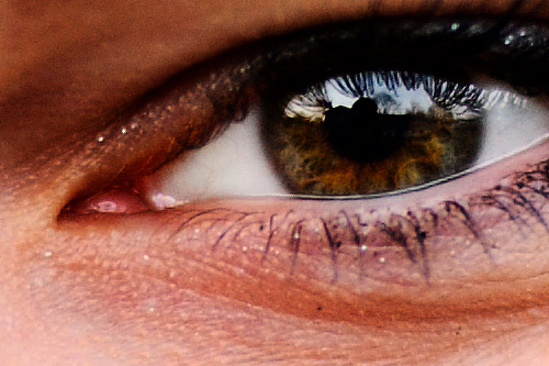 100% crop of photo of eye